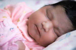Baby Girl in Nursery